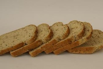Bread is a rich source of carbohydrates.