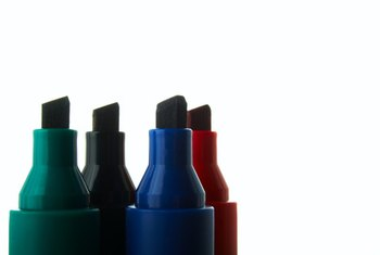 Permanent markers come in a variety of colors with black being the most popular.