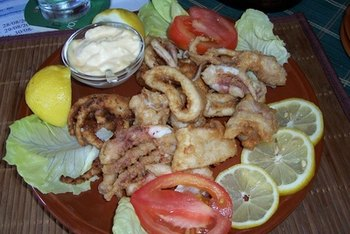 Squid is usually listed as calamari on restaurant menus.