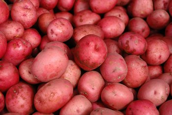 Red potatoes cook quickly over high heat.