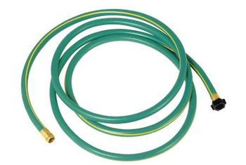 Hoses ends usually leak around worn washers or cracks in the hose.