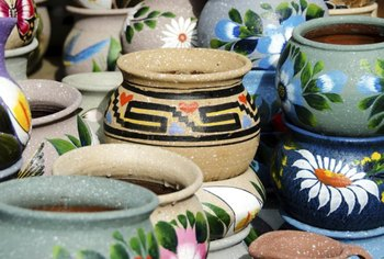 Reserve the brightly colored traditional pottery for decor, as it may contain lead in the glaze.
