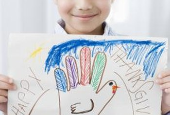Thanksgiving crafts add a creative touch to classroom celebrations.