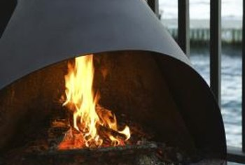 The shape of a chimenea makes for a distinctive, decorative outdoor fireplace.
