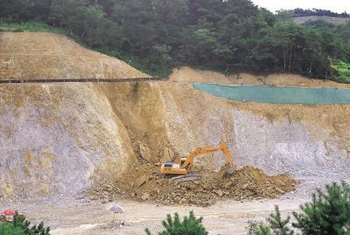 Large-scale mining operations can contribute to local erosion problems.