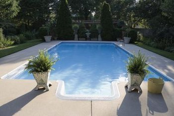 An inground pool is a great way to beat the heat.