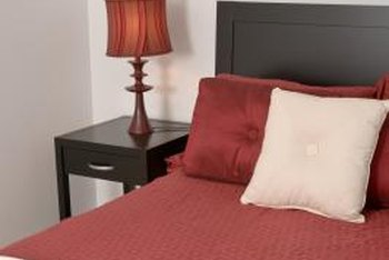 Merlot-red is a subdued warm hue in a neutral room.
