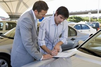 Licensed vehicle salespeople must undergo background checks.