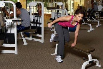 Ease into a full-body workout with machine weights and light dumbbells.