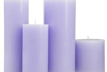 Lavandula-scented candles