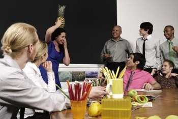 Some companies hold informal gatherings to promote employee assimilation to the workplace.