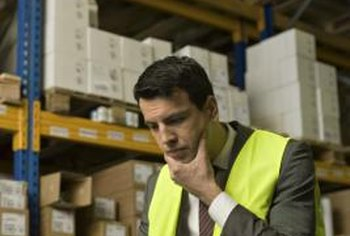 A warehouse manager is responsible for both goods and employees.