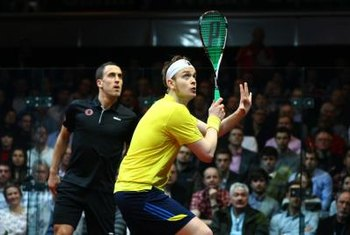 Good core stability and strength are important for successful squash.