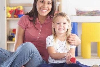 Childcare workers may feed children, help with homework and supervise playtime.