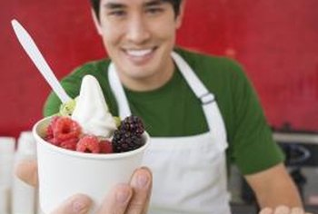 Serve a variety of yogurt flavors to your customers.
