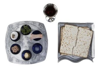 A Passover table must accommodate a Seder plate and other ritual items.