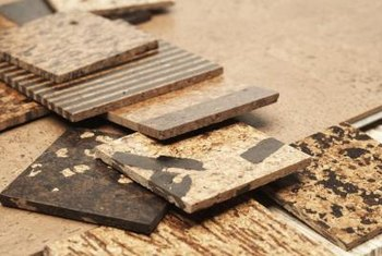 Cork tiles come in a wide variety of patterns, colors and sizes.