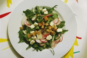 Radishes can add color and crunch to a salad.