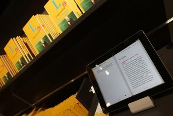 Tools for reading and purchasing books are built into the Kindle.
