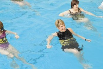 Earn certification to teach water aerobics.