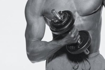Target your chest with simple dumbbell exercises.