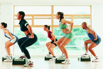 Taking a step class can help reduce saddlebags.