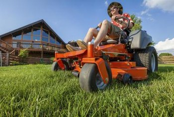Zero-turn mowers use levers instead of a brake pedal and steering wheel to maneuver them.