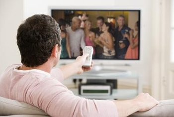 Businesses use TV advertising campaigns to reach large audiences.
