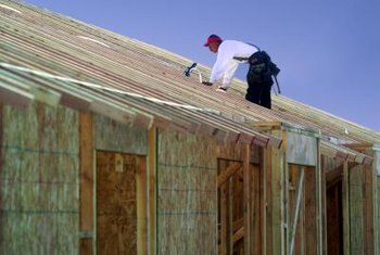 Plywood ties add stability to rafters.