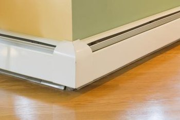 Baseboard heaters have metal baseboards which can rust and require refinishing.