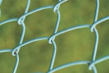 Bias cuts on chain link fences run diagonally instead of vertically.