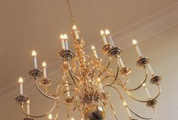 Dramatic accessories such as a wrought-iron chandelier fit in with Victorian Gothic decor.