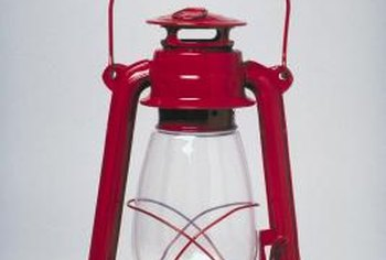 You can turn any lantern into a table lamp.