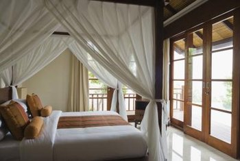 A canopy adds a touch of magic to any bed.