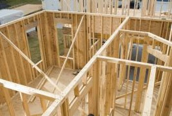 Install a two-by-four corner using framing nails and a hammer or a nail gun.