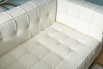 Vinyl upholstery material can be repaired when necessary.