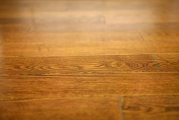 Oil-treated wood floors project a beautiful low-sheen shine for years.