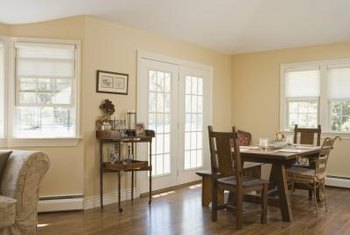 Paint color can accentuate French doors or integrate them into your decor.