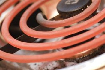 An electric stove uses nichrome heating element wire to generate the heat.