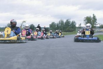 Outdoor go-kart tracks abound in warm climates.