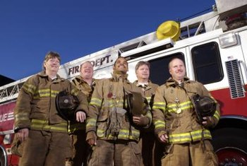 Working as a firefighter involves teamwork.