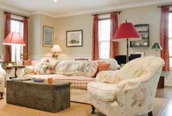 Areas rugs can help define zones in a great room.