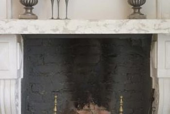 Fireplace mantels are hewn from stone or wood, or put together from manufactured parts.