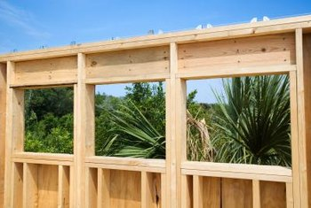 Wood frames make up the skeleton of a house and the form of the walls.