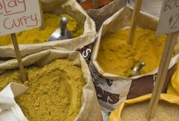 Curry powder is a mix including coriander, cumin, ginger and turmeric, among other spices.