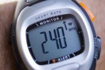 Use a heart rate monitor to track your pulse during cycling exercise.