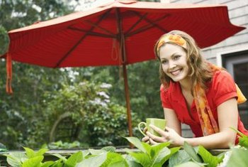 A patio umbrella is one way to provide shade for your plants.