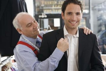 Getting a suit that fits can help you make a good impression at a job interview.