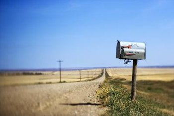 Post-mounted mailboxes are common in rural areas and small communities.