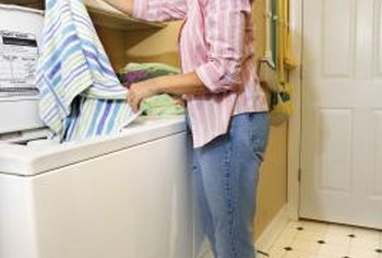 An overflowing washing machine can dump a lot of water onto the floor.